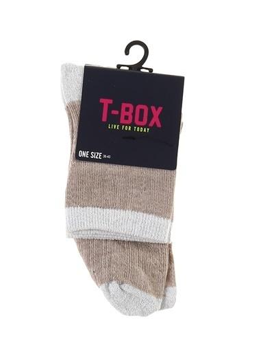 T-Box Soket Çorap Bej